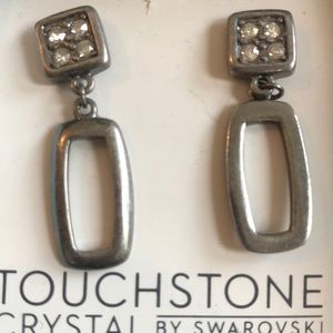 NWT modern drop earrings Touchstone Crystals